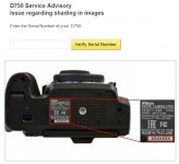 Nikon D750 Camera Serial number location